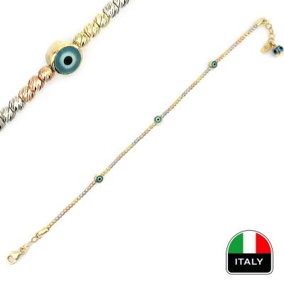 kuyumcunuznet - Altın Hediyelik İtalyan Bileklik Künye (14 Ayar)