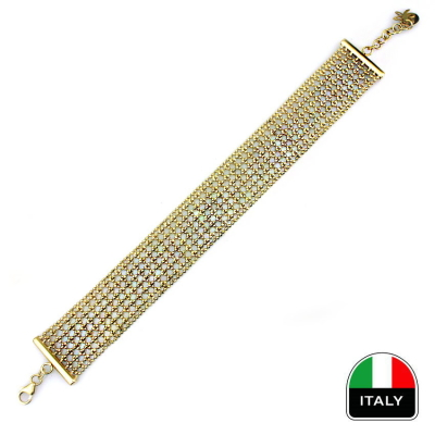 kuyumcunuznet - Altın İtalyan Hasır Bileklik (14 Ayar)