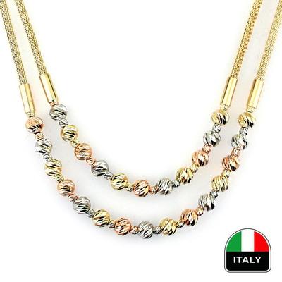 kuyumcunuznet - Altın İtalyan İkili Gerdanlık (14 Ayar)
