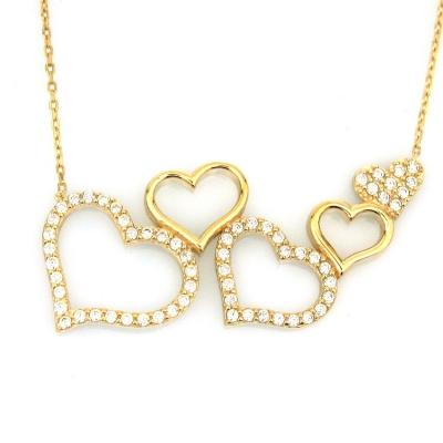 kuyumcunuznet - Altın Kalpli Sevgili Kolyesi (14 Ayar)