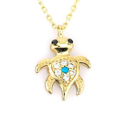 kuyumcunuznet - Altın Kaplumbağa Caretta Caretta Kolye (14 Ayar)