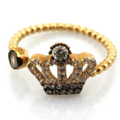 kuyumcunuznet - Altın Kral Tacı Yüzük (14 Ayar)
