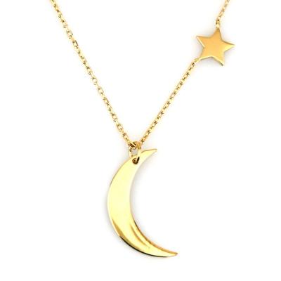 kuyumcunuznet - Altın Küçük Ay Yıldız Türk Bayrağı Kolye (14 Ayar)