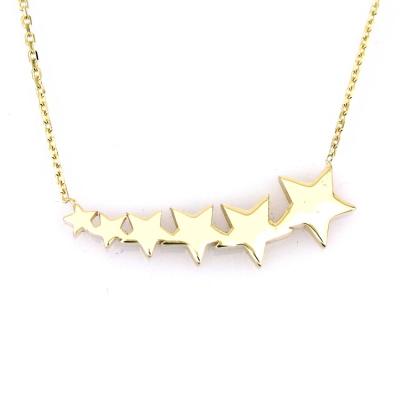 kuyumcunuznet - Altın Kuyruklu Yıldız Kolye (14 Ayar)