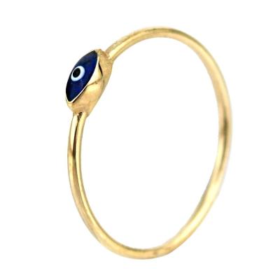 kuyumcunuznet - Altın Mineli Gözlü Eklem Yüzüğü (14 Ayar)