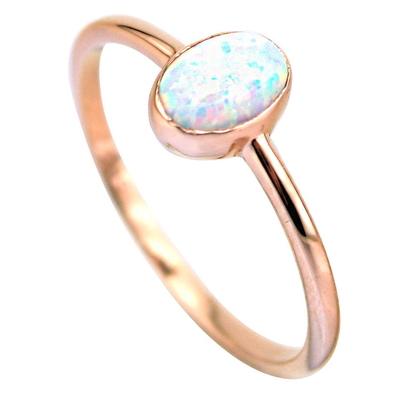 kuyumcunuznet - Altın Opal Taşlı Yüzük (14 Ayar)
