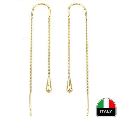 kuyumcunuznet - Altın Sallantılı İtalyan Tasarım Küpe (14 Ayar)