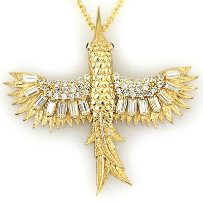 kuyumcunuznet - Altın Tasarım Arıkuşu Kolye (14 Ayar)