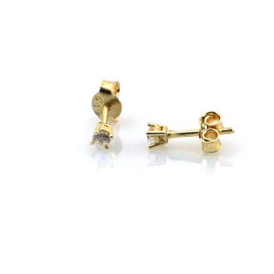 kuyumcunuznet - Altın Taşlı Küçük Küpe (14 Ayar)