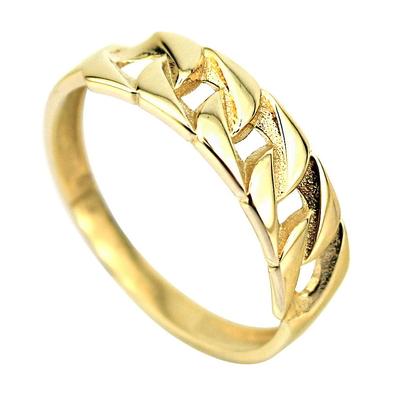 kuyumcunuznet - Altın Taşsız Zincir Model Yüzük (14 Ayar)