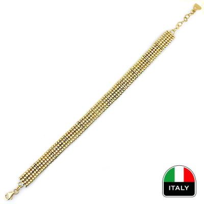 kuyumcunuznet - Altın Tek Renk İtalyan Hasır Künye Bileklik (14 ayar)