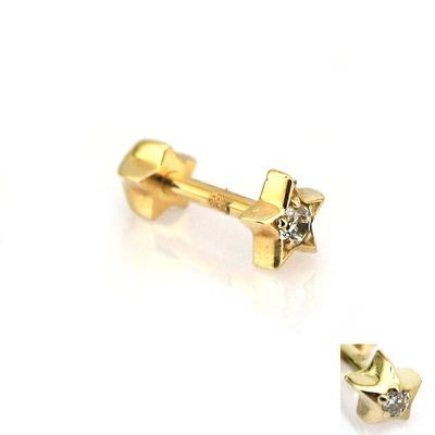 Altın Tragus Piercing Yıldız (14 Ayar)