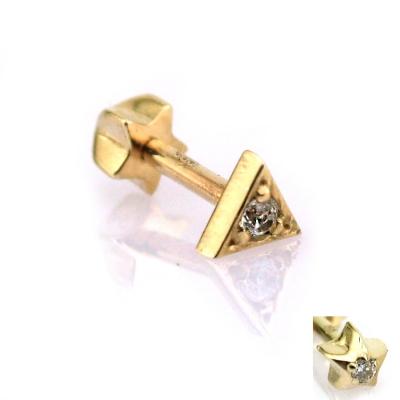 Altın Üçgen Tragus Helix Piercing (14 Ayar)