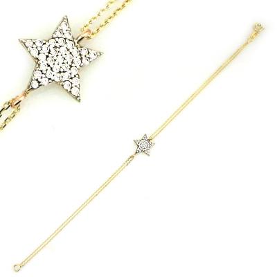 kuyumcunuznet - Altın Yıldız Künye Bileklik (8 Ayar)