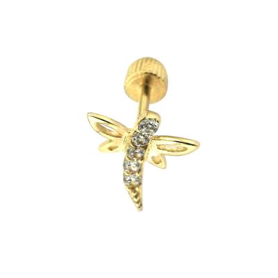 kuyumcunuznet - Altın Yusufçuk Tragus Piercing (14 Ayar)