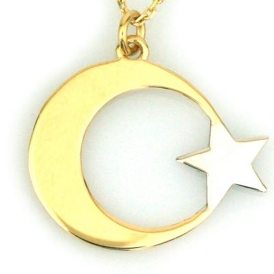 kuyumcunuznet - Ay Yıldız Altın Kolye (14 Ayar)