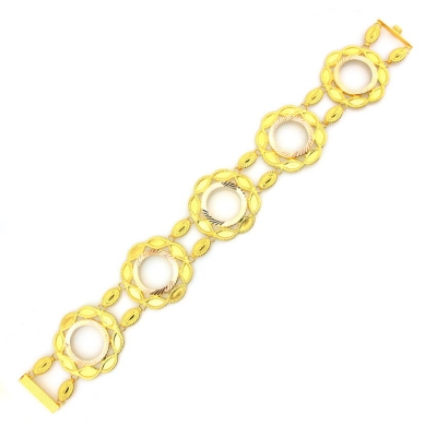kuyumcunuznet - Çeyrekli Gösterişli Altın Bileklik Künye (14 Ayar)