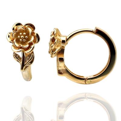 kuyumcunuznet - Çiçek Desenli Halka Altın Kolye (14 Ayar)