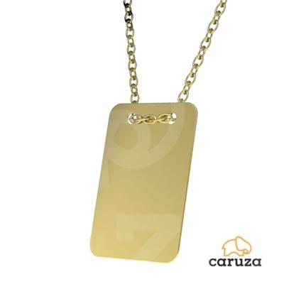 kuyumcunuznet - Dikdörtgen Plaka Altın Kolye (14 Ayar)