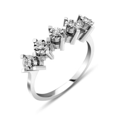 kuyumcunuznet - Efektli Beştaş Pırlanta Yüzük