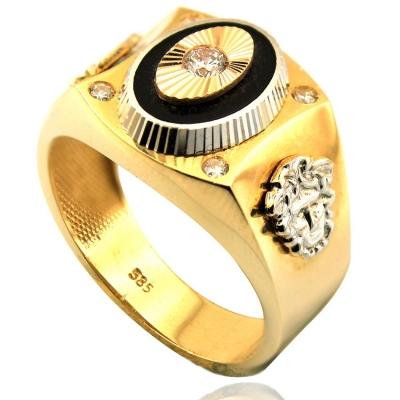 kuyumcunuznet - Erkek Şovalye Altın Yüzük (14 Ayar)