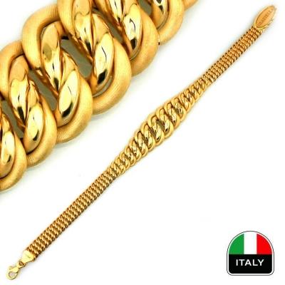 kuyumcunuznet - Gösterişli İtalyan Altın Bileklik Künye (14 Ayar)