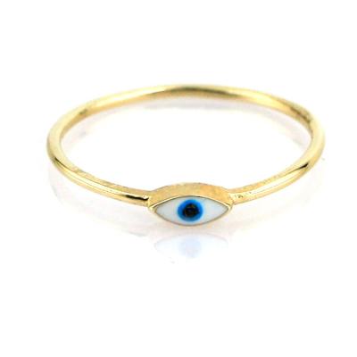kuyumcunuznet - Gözlü Altın Eklem Yüzüğü (14 Ayar)