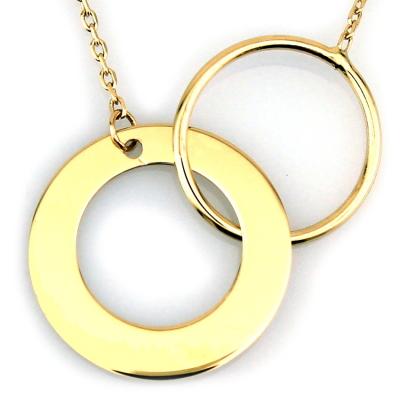 kuyumcunuznet - Halka Geometrik Altın Kolye (14 Ayar)