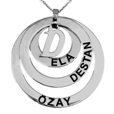 Halka İsimli Harfli Gümüş Kolye