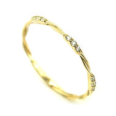 İnce Burma Taşlı Eklem Yüzüğü (14 Ayar)