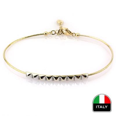 kuyumcunuznet - İnce Günlük İtalyan Kelepçe Bileklik (14 Ayar)