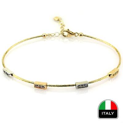 kuyumcunuznet - İnce Günlük Takılık İtalyan Kelepçe Bilezik (14 Ayar)
