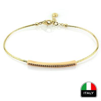 kuyumcunuznet - İnce İtalyan Kelepçe (14 Ayar)