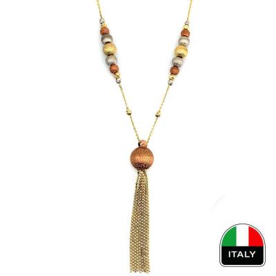 kuyumcunuznet - İtalyan Gösterişli Altın Gerdanlık Kolye (14 Ayar)