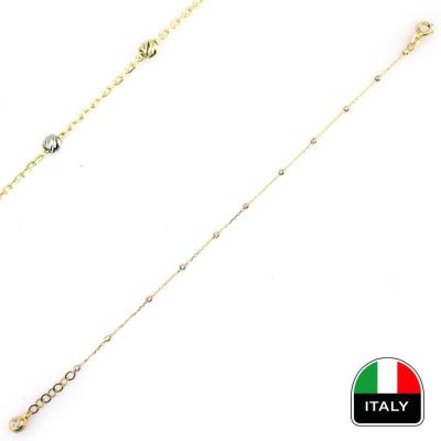 kuyumcunuznet - İtalyan İnce Toplu Günlük Altın Bileklik (14 Ayar)