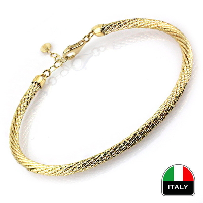 İtalyan Örgü Kelepçe Bileklik (14 Ayar)