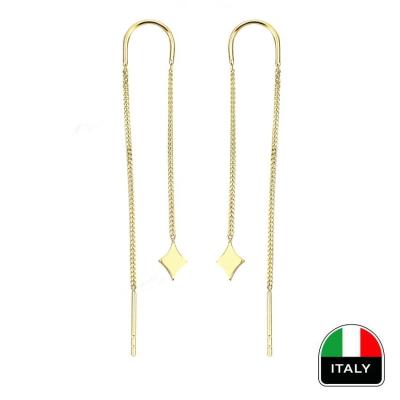 kuyumcunuznet - İtalyan Sallantılı Zarif Altın Küpe (14 Ayar)