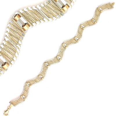 kuyumcunuznet - İtalyan Tasarım Modern Altın Künye Bileklik (14 Ayar)
