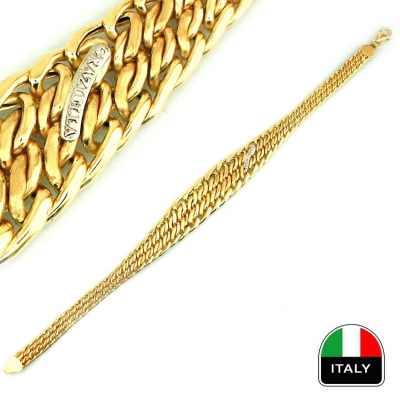 kuyumcunuznet - İtalyan Taşsız Altın Bileklik Künye (14 Ayar)