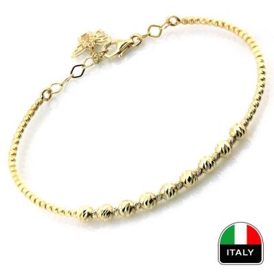 kuyumcunuznet - İtalyan Taşsız Hediyelik Altın Kelepçe Bilezik (14 Ayar)