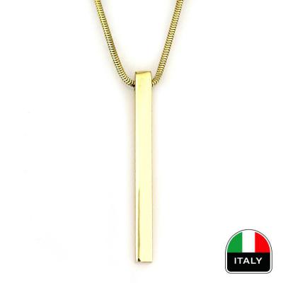 İtalyan Zincirli Altın Tasarım Kolye (14 Ayar)