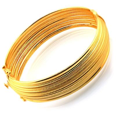 kuyumcunuznet - Kalın Gösterişli Rize İşi Altın Bilezik Kelepçe (22 Ayar)