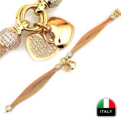 Kalpli Örme İtalyan Altın Bileklik (14 Ayar) - Thumbnail