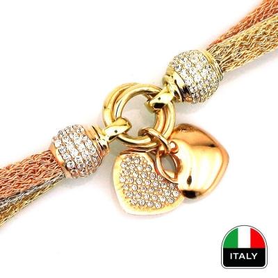 Kalpli Örme İtalyan Altın Bileklik (14 Ayar)