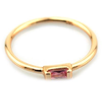 kuyumcunuznet - Kırmızı Taşlı Altın Eklem Yüzüğü (14 Ayar)