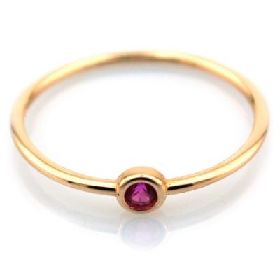 Kırmızı Taşlı Eklem Yüzüğü (14 Ayar)
