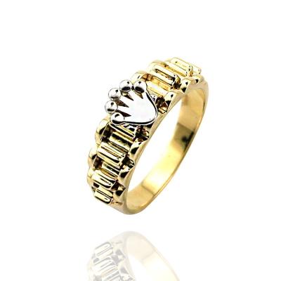 kuyumcunuznet - Kral Tacı Zarif Taşsız Altın Erkek Yüzüğü (14 Ayar)