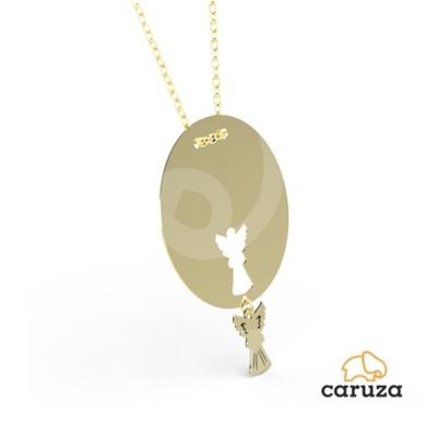 kuyumcunuznet - Melek Plaka Altın Kolye (14 Ayar)
