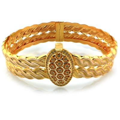 kuyumcunuznet - Örgü Model Altın Kelepçe Bilezik (14 Ayar)