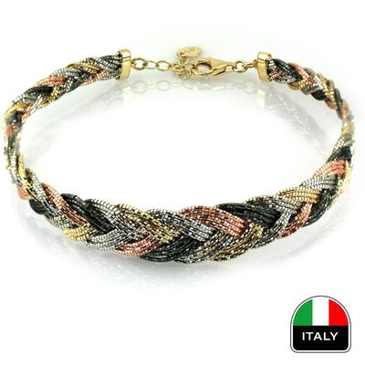 Örme Günlük Modern Gösterişli İtalyan Kelepçe (14 Ayar)